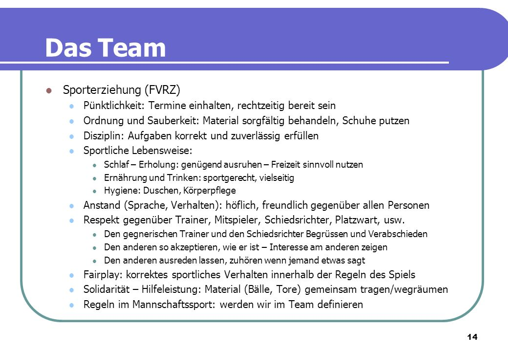 Das Team Sporterziehung (FVRZ)