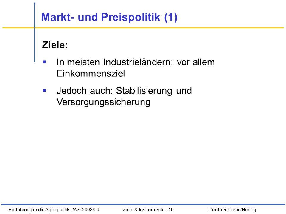 Markt- und Preispolitik (1)