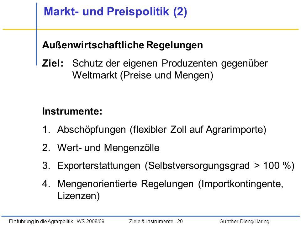Markt- und Preispolitik (2)