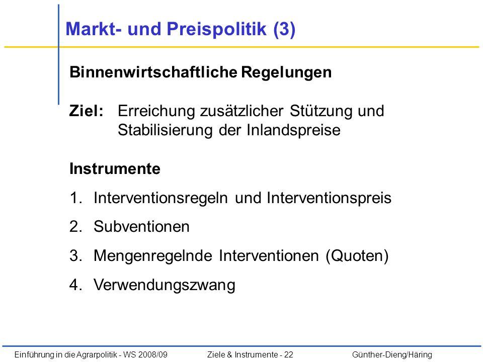 Markt- und Preispolitik (3)
