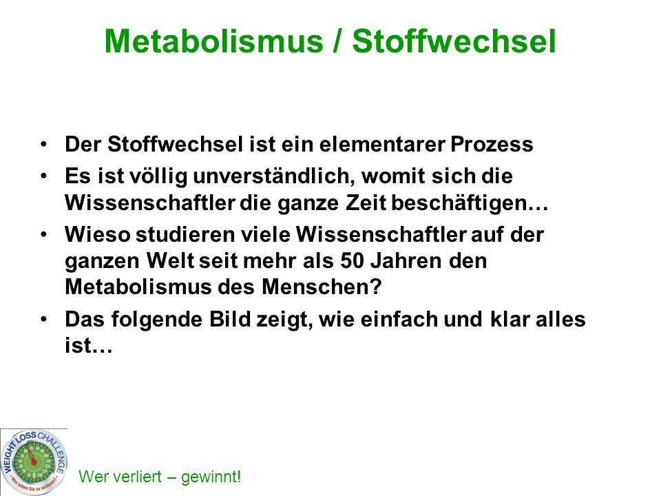Metabolismus / Stoffwechsel