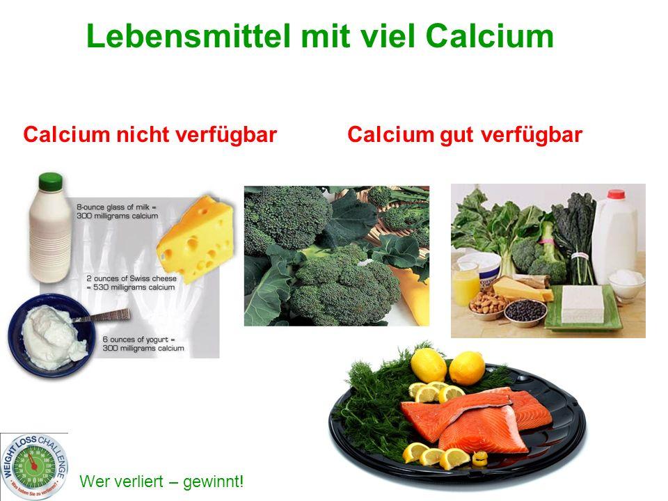 Lebensmittel mit viel Calcium Calcium nicht verfügbar