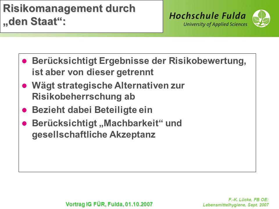 "Risikomanagement durch ""den Staat :"