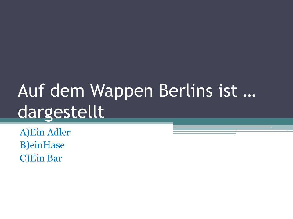 Auf dem Wappen Berlins ist … dargestellt