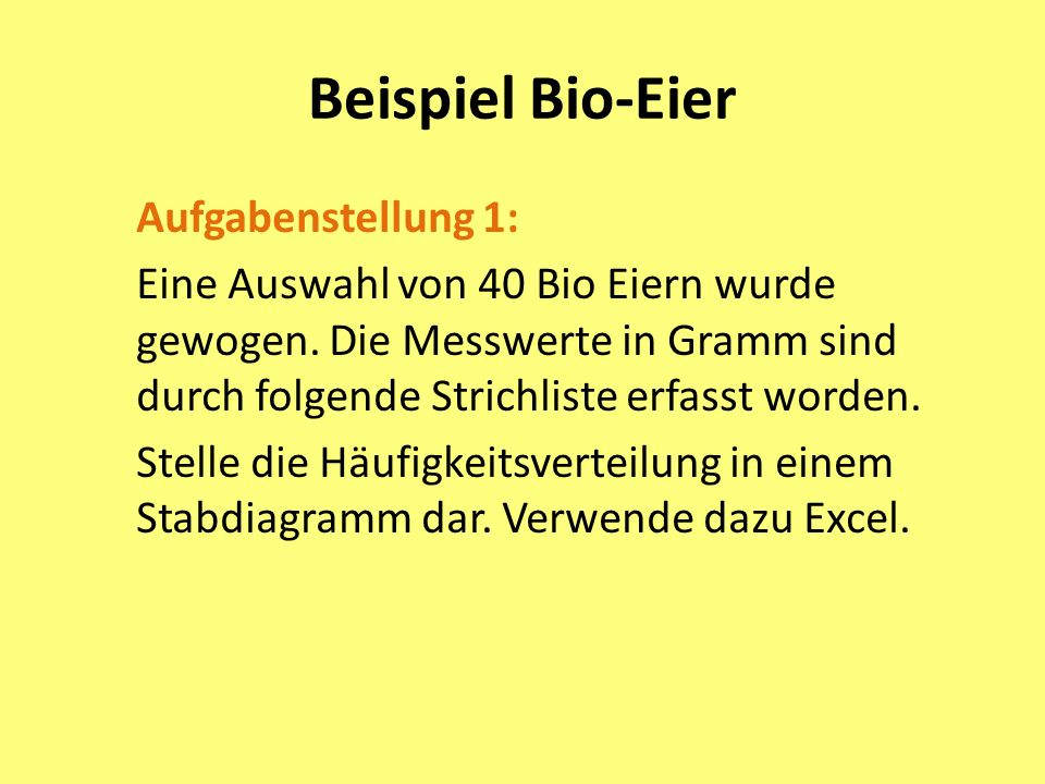 Beispiel Bio-Eier