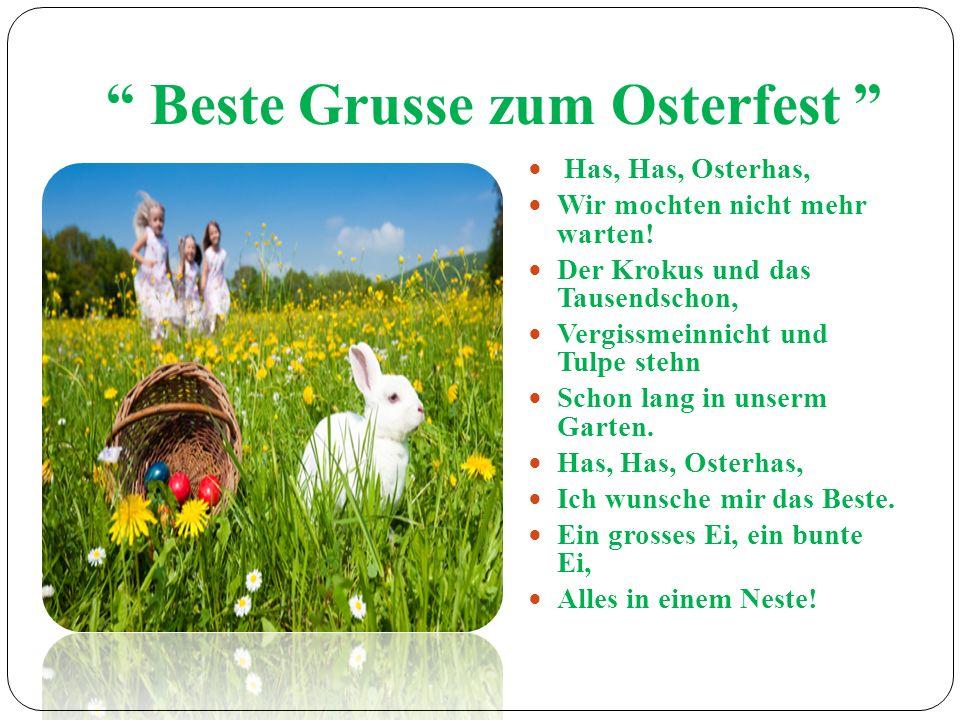 Beste Grusse zum Osterfest