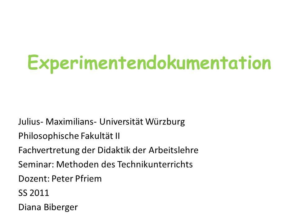 Experimentendokumentation