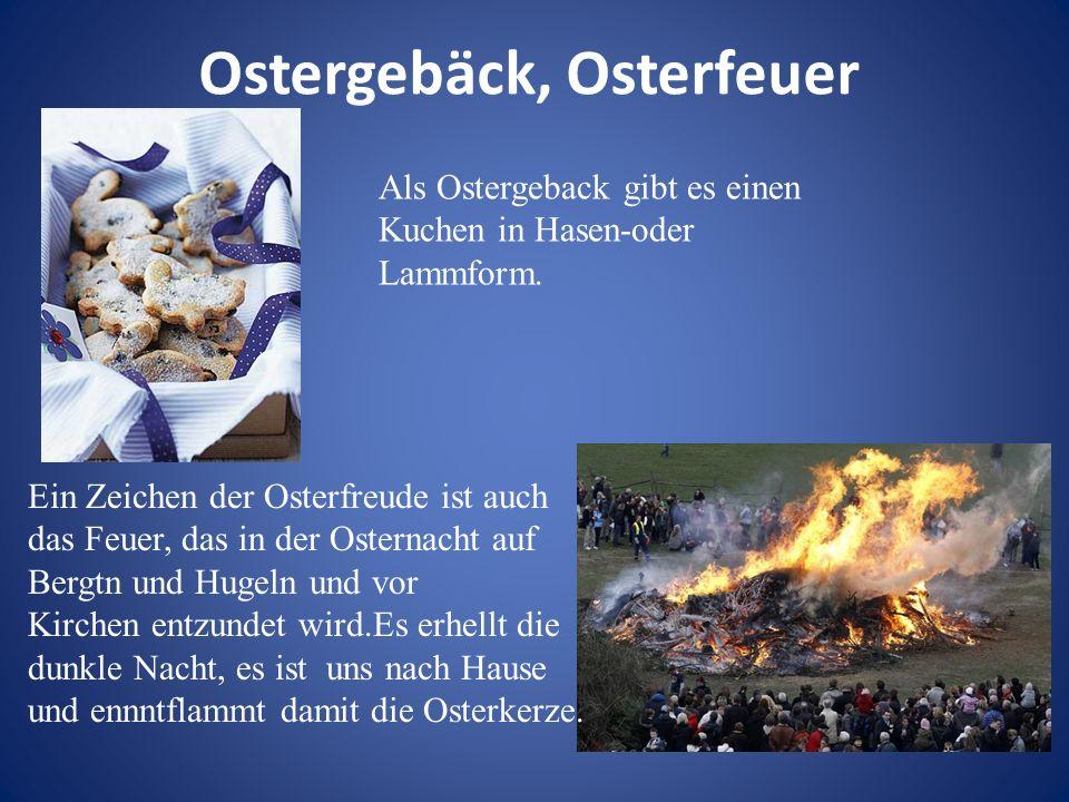 Ostergebäck, Osterfeuer