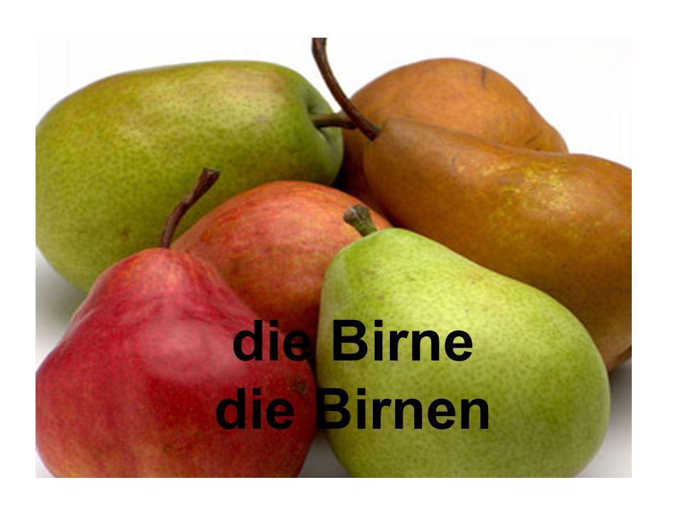 die Birne die Birnen