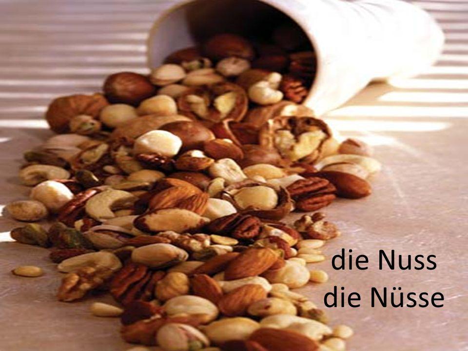 die Nuss die Nüsse