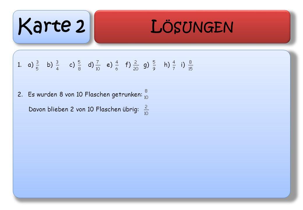 Karte 2 Lösungen a) b) c) d) e) f) g) h) i)