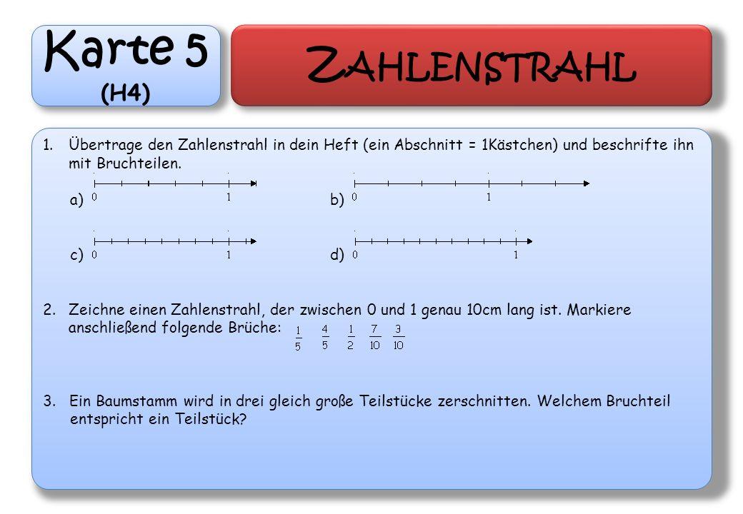 Karte 5 Zahlenstrahl (H4)