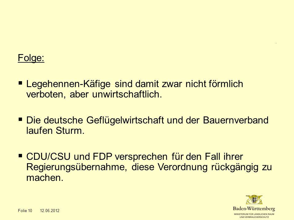 Die deutsche Geflügelwirtschaft und der Bauernverband laufen Sturm.