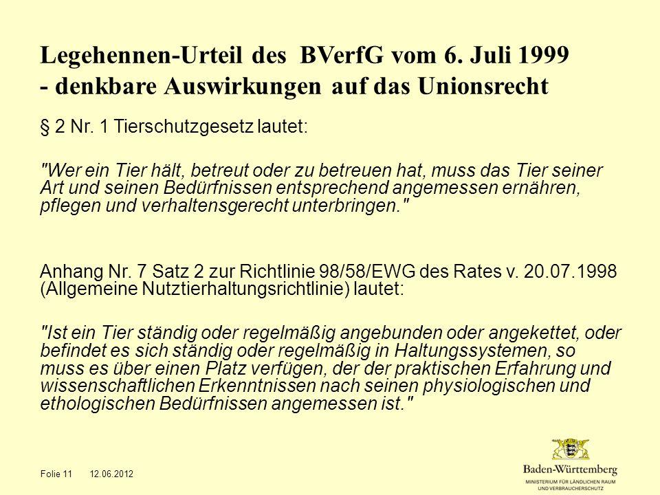 Legehennen-Urteil des BVerfG vom 6