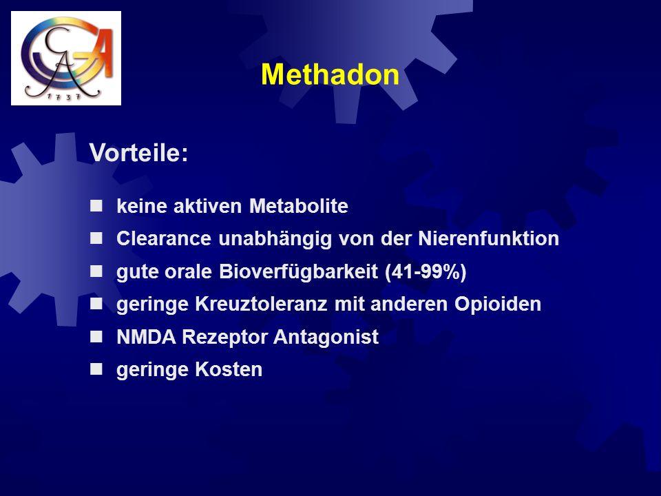 Methadon Vorteile: keine aktiven Metabolite