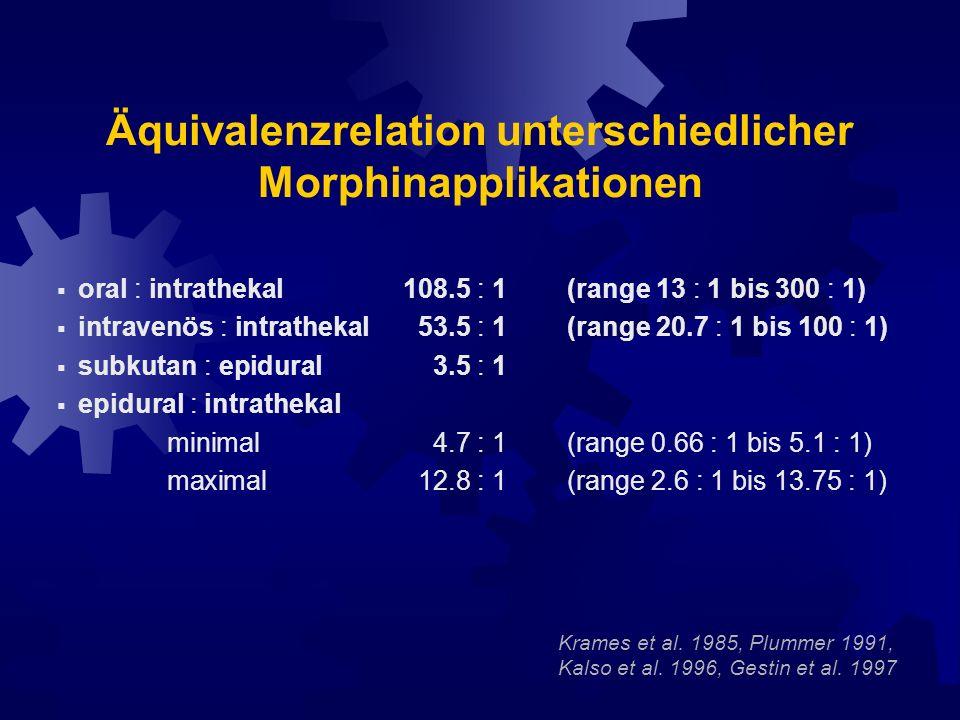 Äquivalenzrelation unterschiedlicher Morphinapplikationen