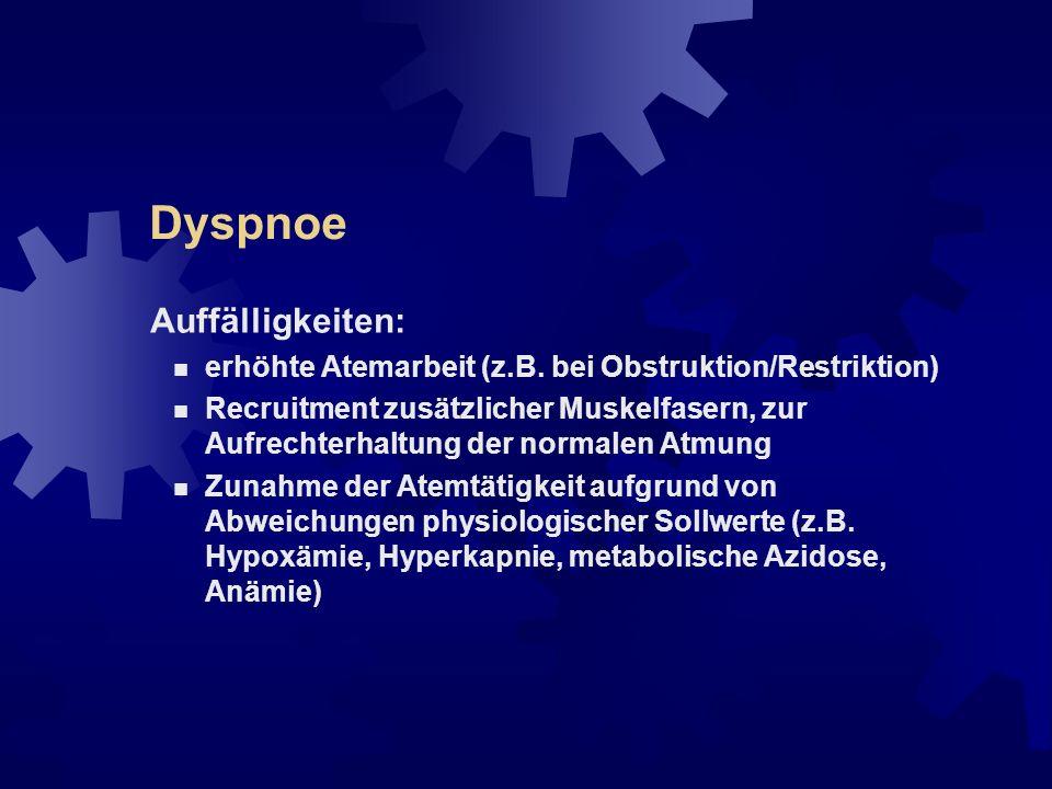 Dyspnoe Auffälligkeiten: