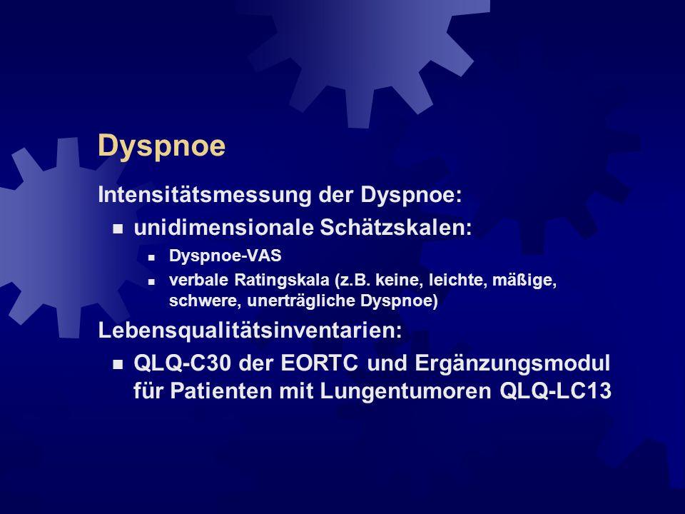 Dyspnoe Intensitätsmessung der Dyspnoe: unidimensionale Schätzskalen: