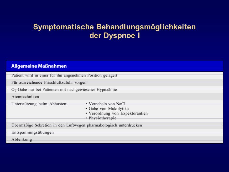 Symptomatische Behandlungsmöglichkeiten der Dyspnoe I