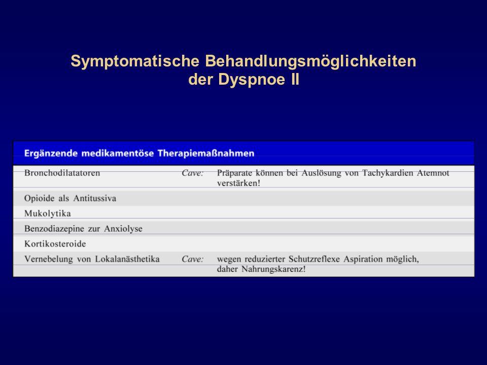 Symptomatische Behandlungsmöglichkeiten der Dyspnoe II