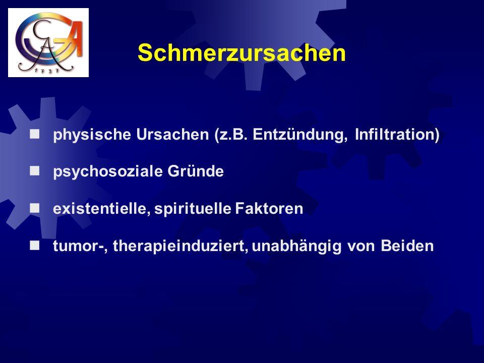 Schmerzursachen physische Ursachen (z.B. Entzündung, Infiltration)