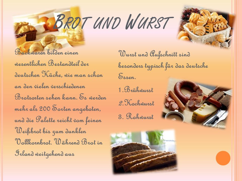 Brot und Wurst