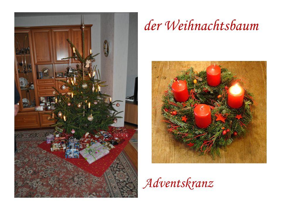 der Weihnachtsbaum Adventskranz