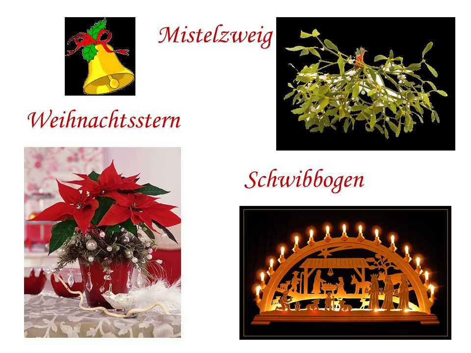 Mistelzweig Weihnachtsstern Schwibbogen