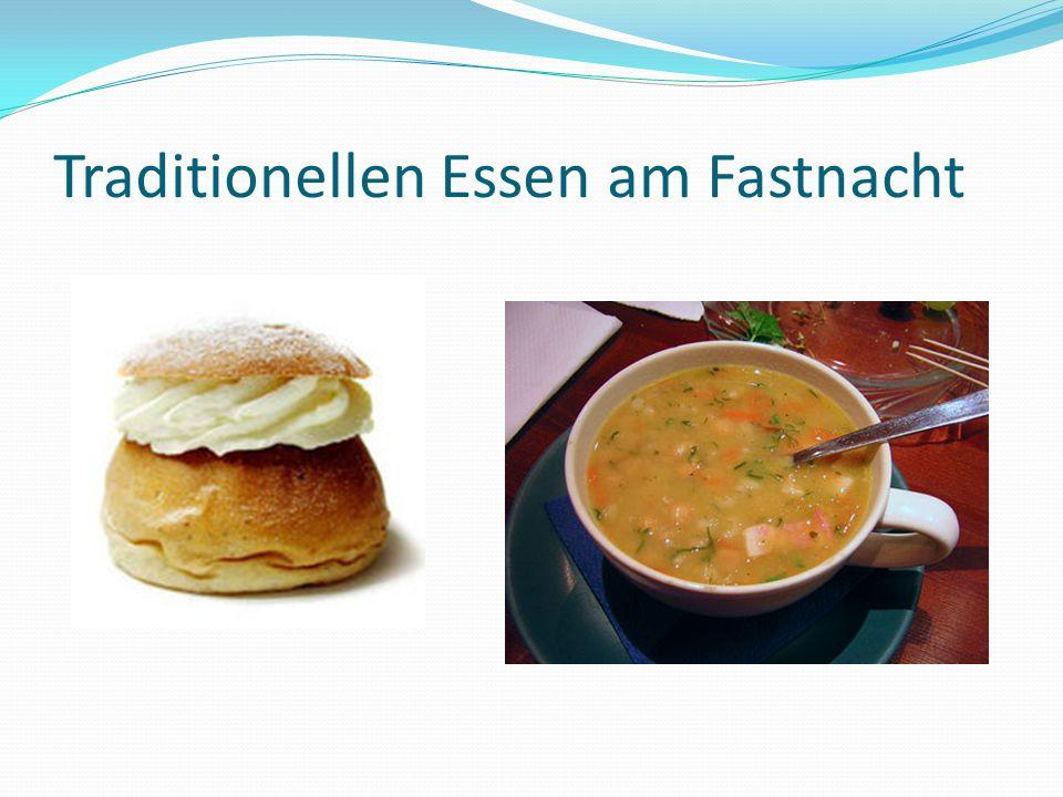 Traditionellen Essen am Fastnacht