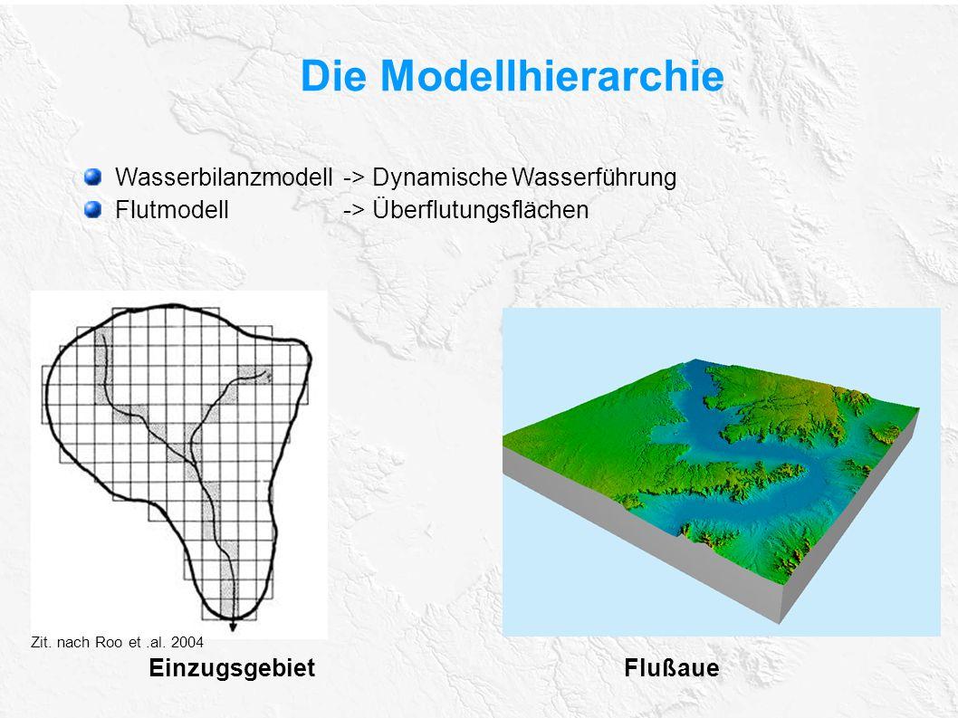 Die Modellhierarchie Wasserbilanzmodell -> Dynamische Wasserführung