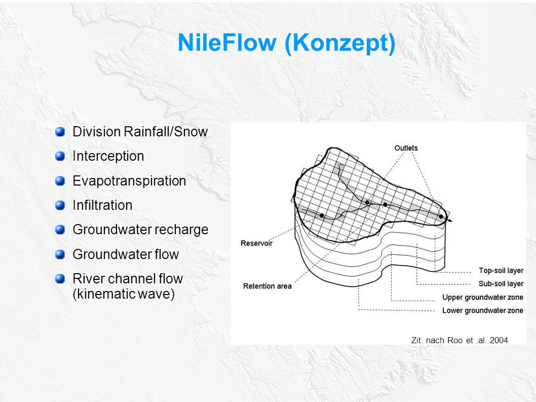 NileFlow (Konzept) Division Rainfall/Snow Interception