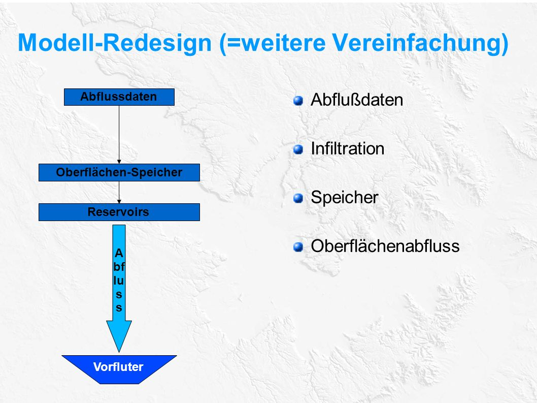 Modell-Redesign (=weitere Vereinfachung)