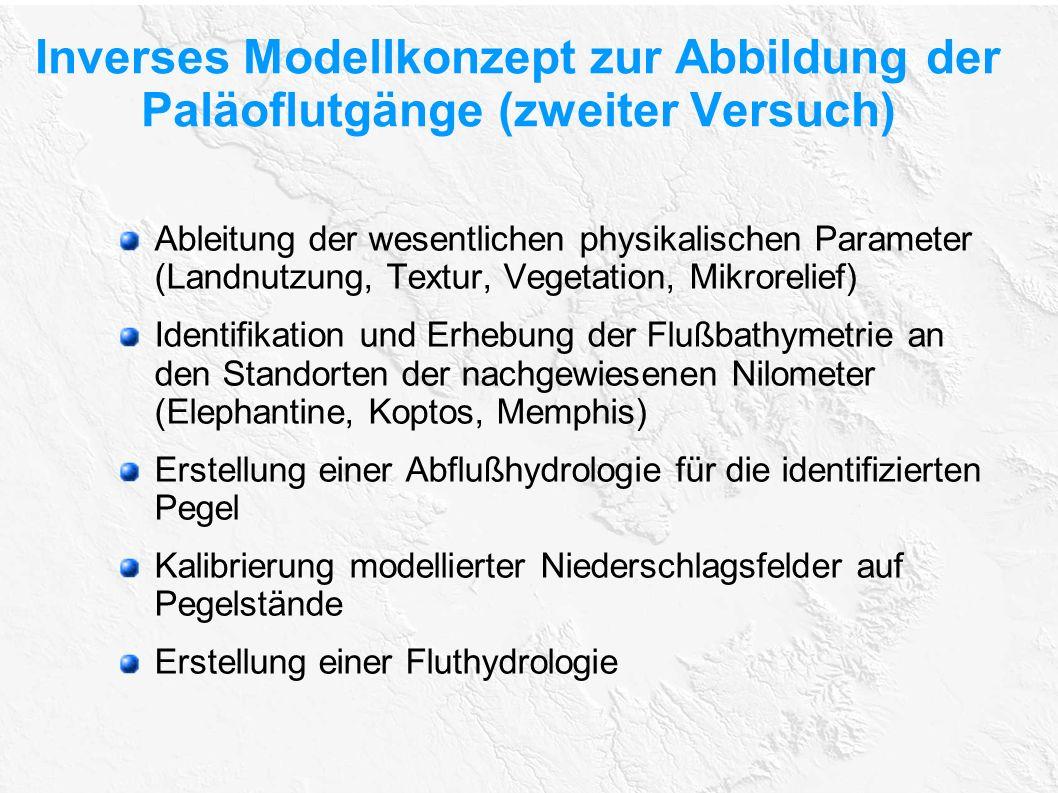 Inverses Modellkonzept zur Abbildung der Paläoflutgänge (zweiter Versuch)