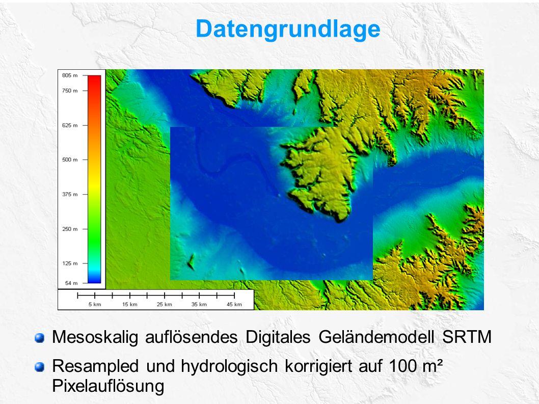 Datengrundlage Mesoskalig auflösendes Digitales Geländemodell SRTM
