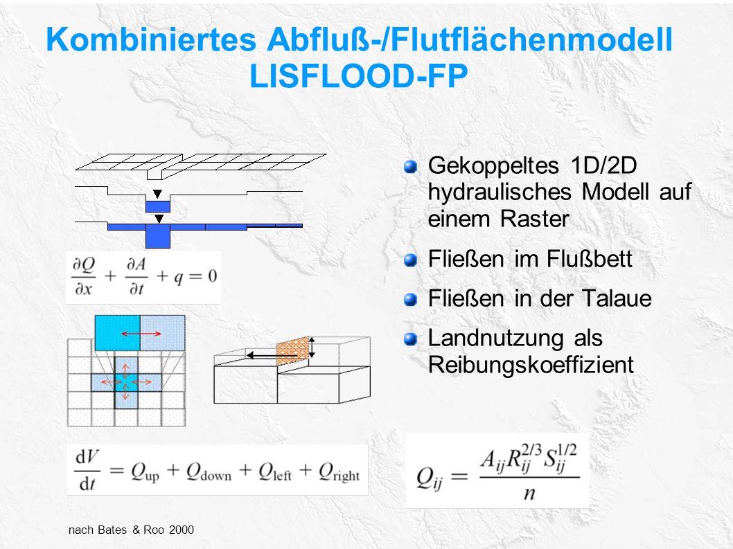 Kombiniertes Abfluß-/Flutflächenmodell LISFLOOD-FP