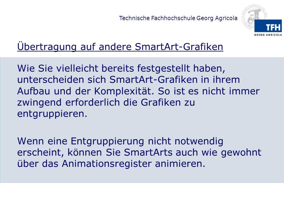 Übertragung auf andere SmartArt-Grafiken