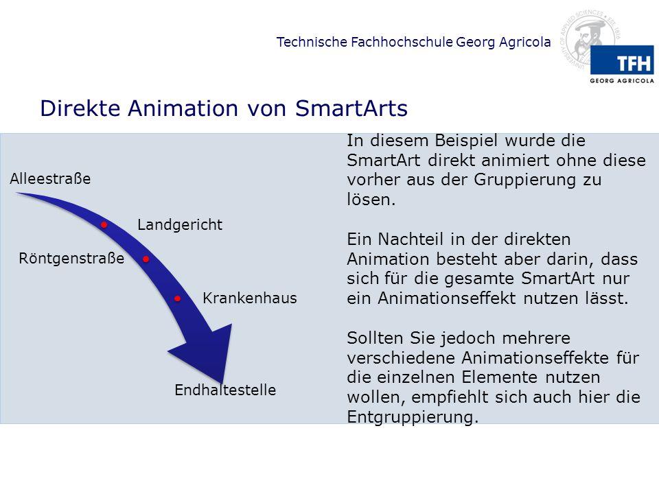 Direkte Animation von SmartArts