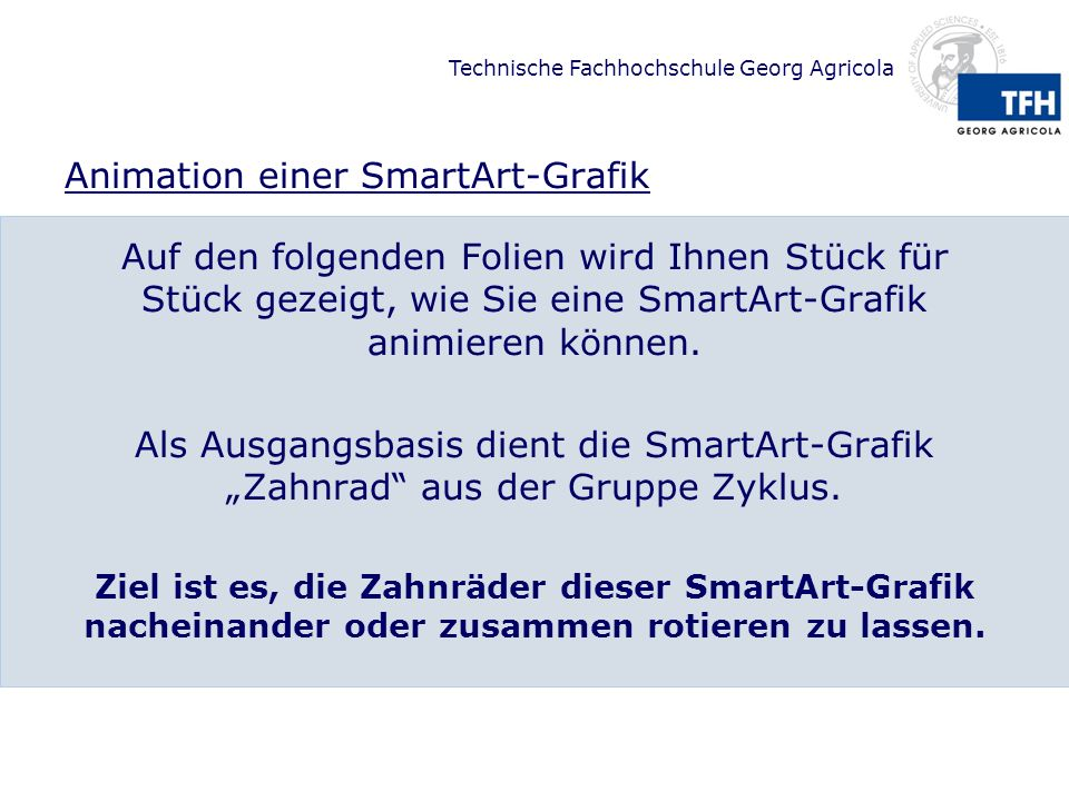 Animation einer SmartArt-Grafik