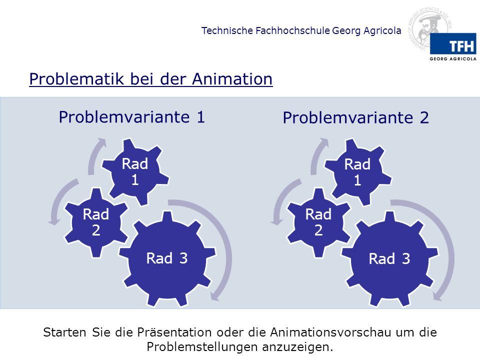 Problematik bei der Animation
