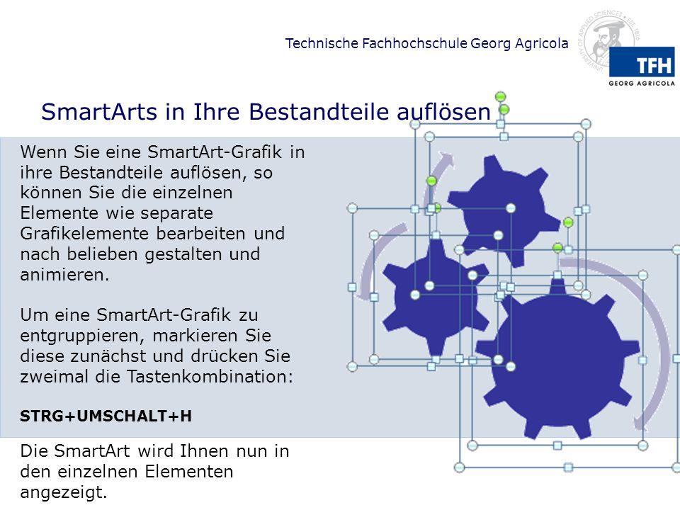 SmartArts in Ihre Bestandteile auflösen