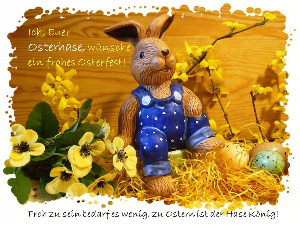 Ich, Euer Osterhase, wünsche ein frohes Osterfest!
