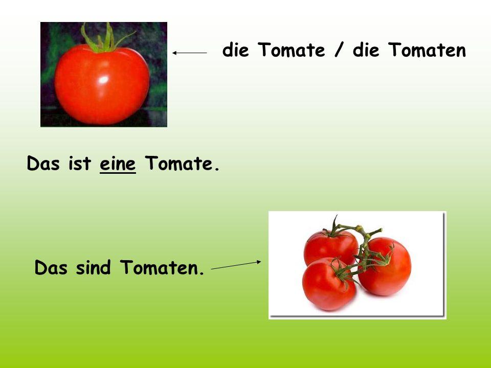 die Tomate / die Tomaten