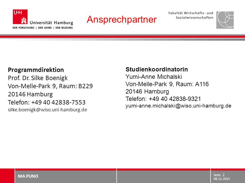 Ansprechpartner Programmdirektion Prof. Dr. Silke Boenigk