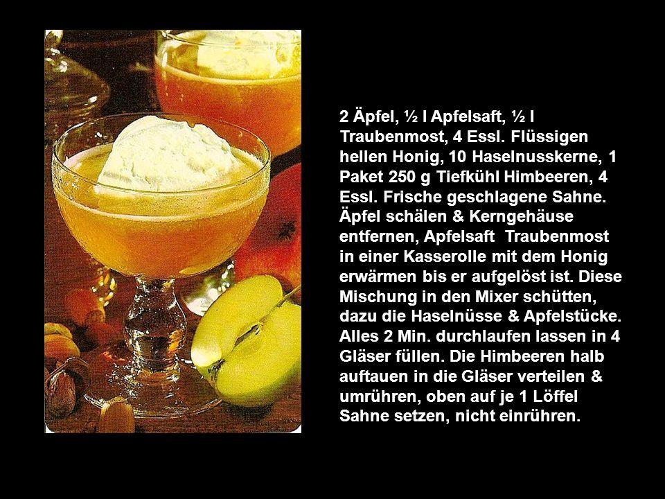 Honig-Frucht-Kaltschale