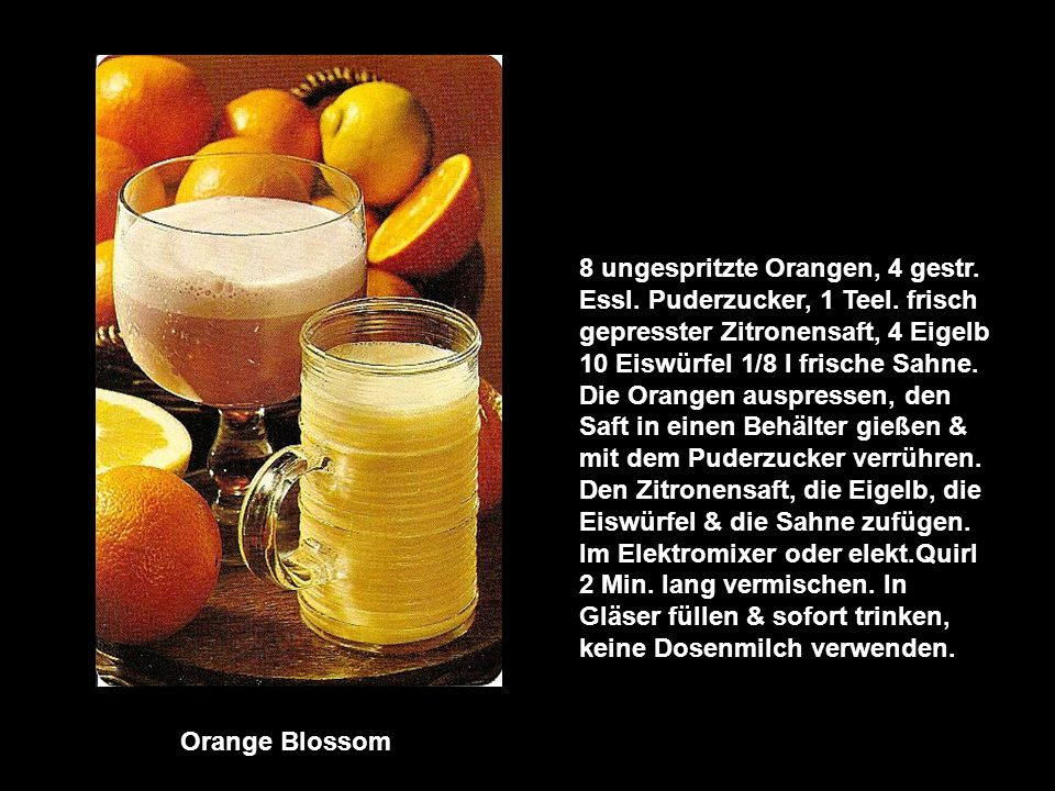 8 ungespritzte Orangen, 4 gestr. Essl. Puderzucker, 1 Teel