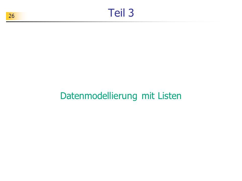 Datenmodellierung mit Listen