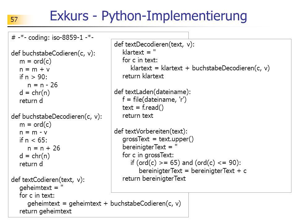 Exkurs - Python-Implementierung
