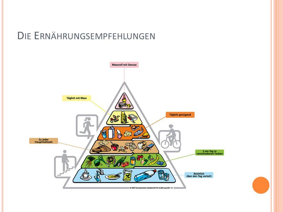 Die Ernährungsempfehlungen