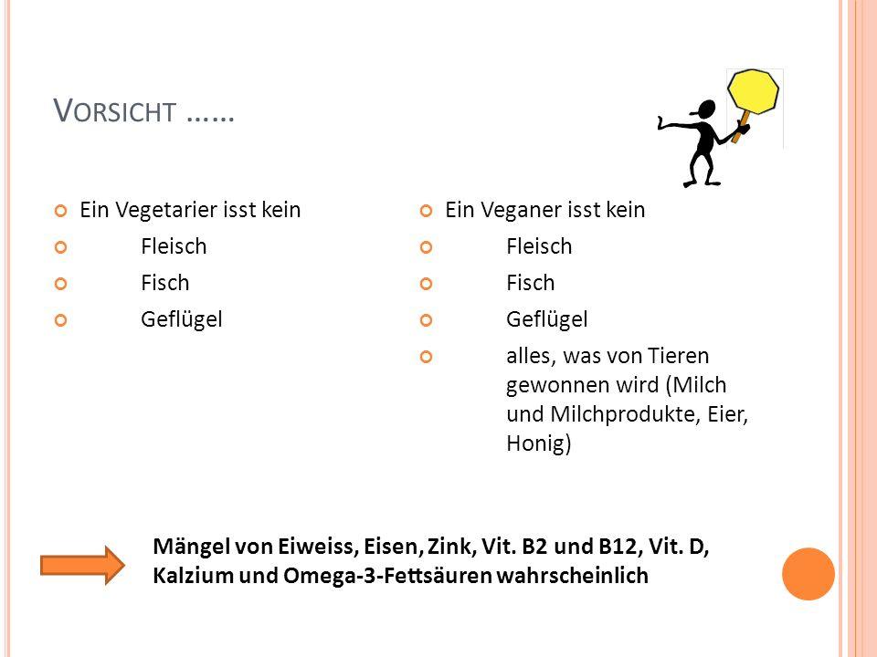 Vorsicht …… Ein Vegetarier isst kein Fleisch Fisch Geflügel