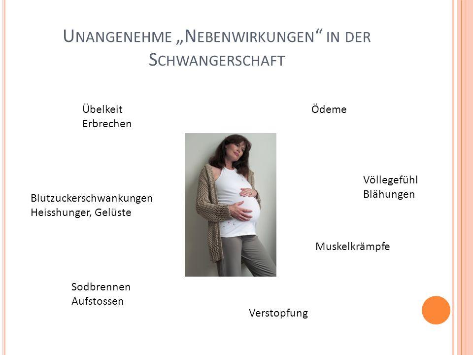 """Unangenehme """"Nebenwirkungen in der Schwangerschaft"""